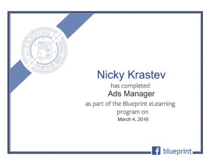 Facebook Blueprint - Ads Manager Certificate