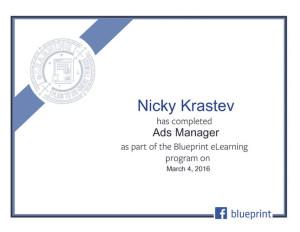 Facebook Blueprint - Ads Manager Certificate