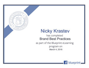 Facebook Blueprint - Brand Best Practices Certificate