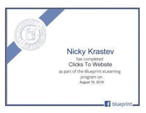 Clicks to website certificate