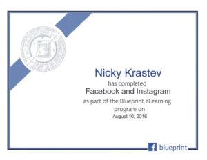 Facebook and Instagram certificate
