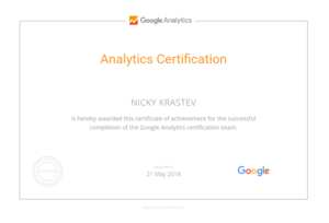 Goоgle Analitycs Certificate