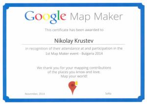 Google Map Maker Certificate