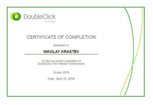 DoubleClick by Google Rich Media Fundamentals Certificate