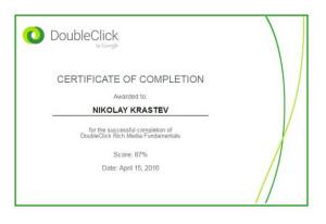 DoubleClick Rich Media Fundamentals Certificate