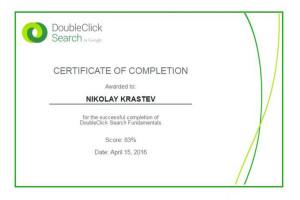 DoubleClick Search Fundamentals Certificate