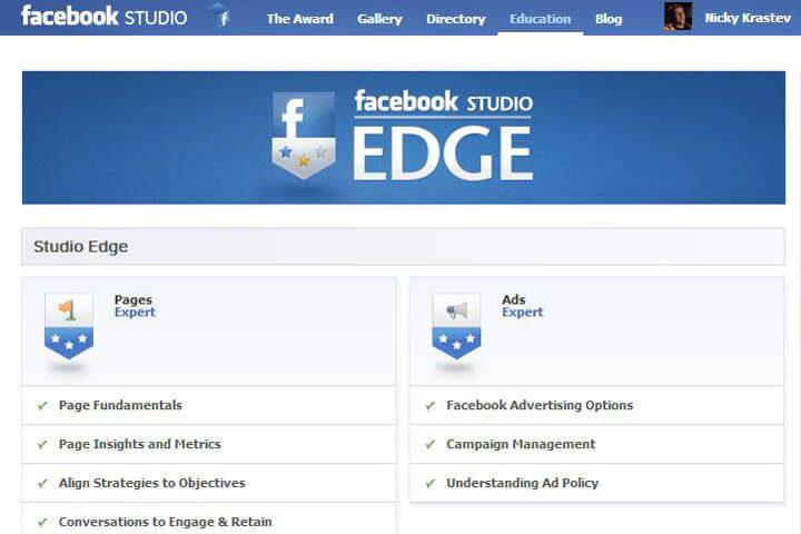 Facebook Studio Edge Certificate