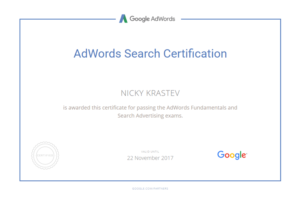 Google AdWords Search Certificate
