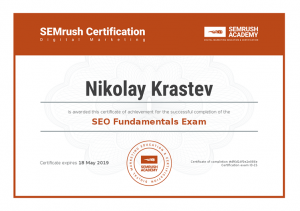 SEMrush SEO Fundamentals Certification