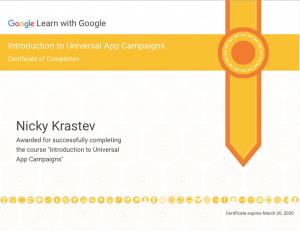 Google Universal App Campaigns