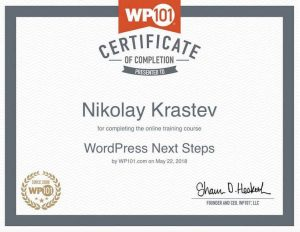 WP101 - WordPress Next Steps Certificate