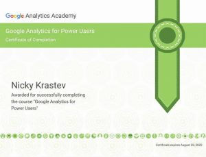 Google Analytics for Power Users Certificate