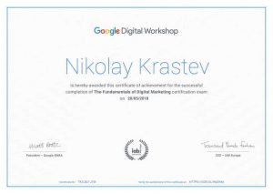 Google Digital Workshop Certification
