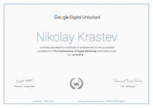 Google Digital Unlocked Cerificate