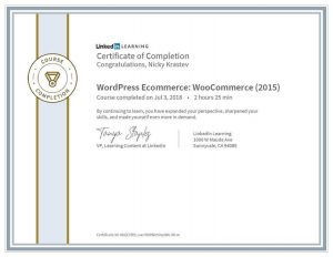LinkedIn Learning - WordPress Ecommerce Certificate